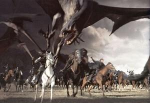 Una scena di Il signore degli anelli - Il ritorno del re di Peter Jackson