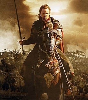 Viggo Mortensen in una sequenza di Il signore degli anelli - Il ritorno del re