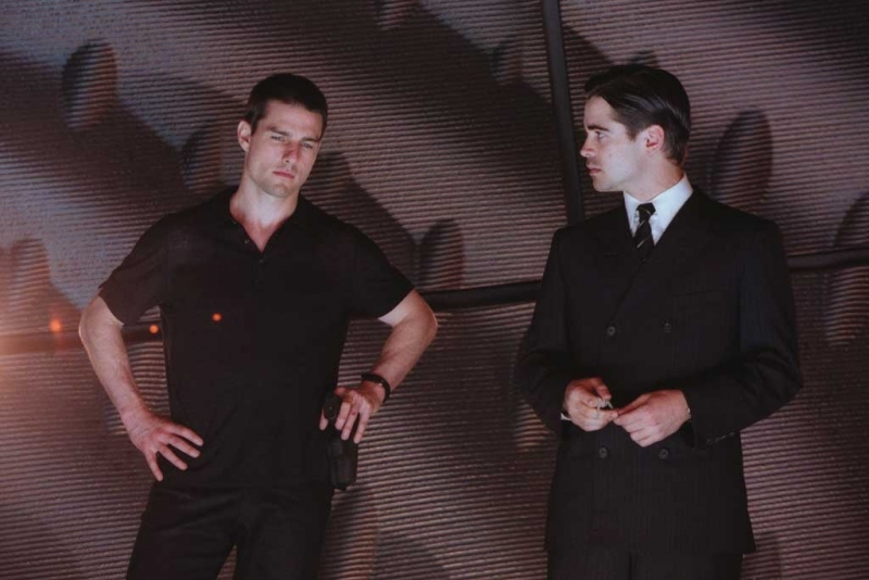 Tom Cruise e Colin Farrell in una scena di Minority Report