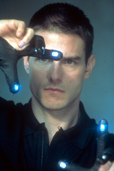 Una immagine di Tom Cruise nel film Minority Report