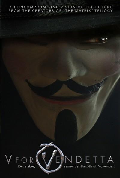 La locandina di V for Vendetta