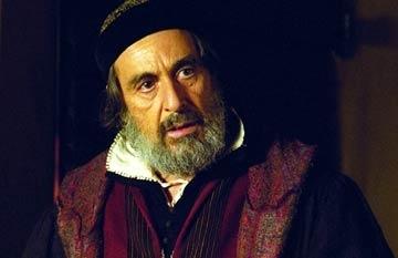Al Pacino in una scena de Il mercante di Venezia
