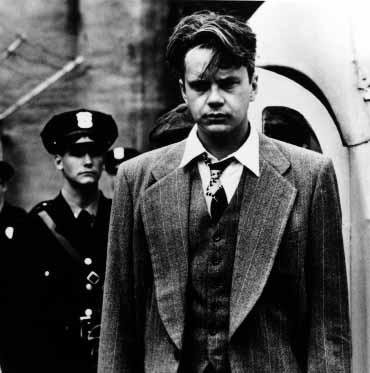 Tim Robbins in una scena di Le ali della libertà (The Shawshank Redemption)