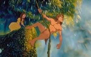 Una scena di Tarzan