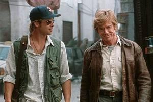 Brad Pitt e Robert Redford in una scena di Spy Game
