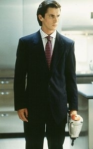Christian Bale in una immagine di American Psycho