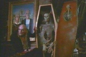 Richard O'Brien in una sequenza di The Rocky Horror Picture Show