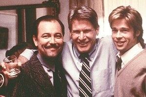 Rubén Blades, Harrison Ford e Brad Pitt sul set di L'Ombra del diavolo