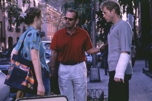 Jack Nicholson, Skeet Ulrich e Helen Hunt in una scena di Qualcosa è cambiato