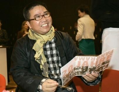 Berlinale 2005: il regista Fruit Chan presenta il suo film Dumplings