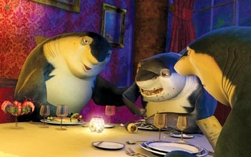 Don Lino a cena in una scena di Shark Tale