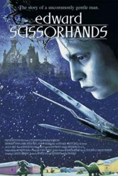 La locandina di Edward mani di forbice