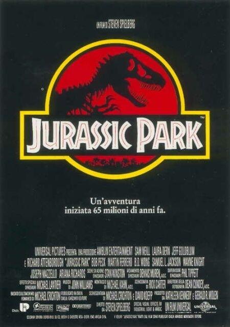 La locandina di Jurassic Park