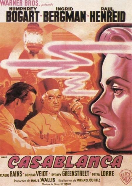 La locandina di Casablanca