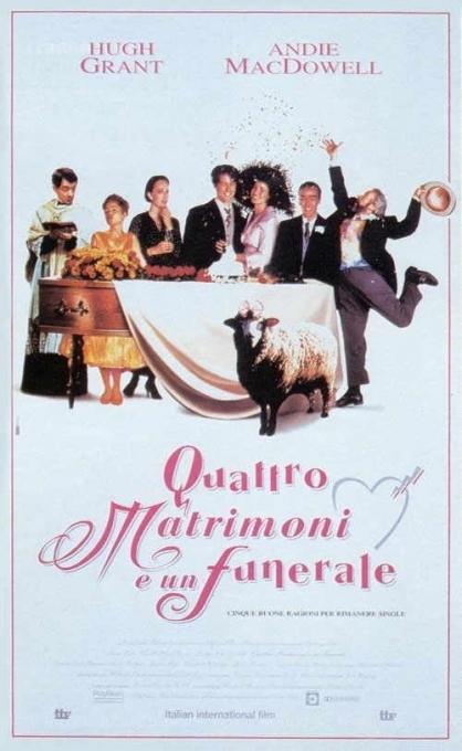 La locandina di Quattro matrimoni e un funerale