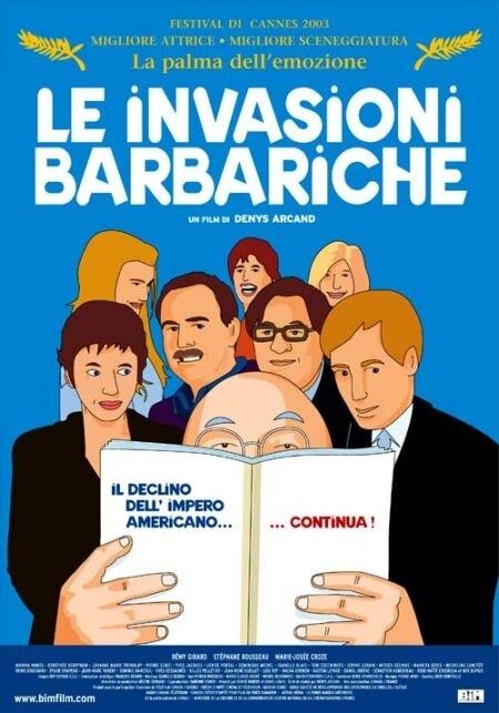 La locandina di Le invasioni barbariche