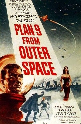 La locandina di Plan 9 from Outer Space