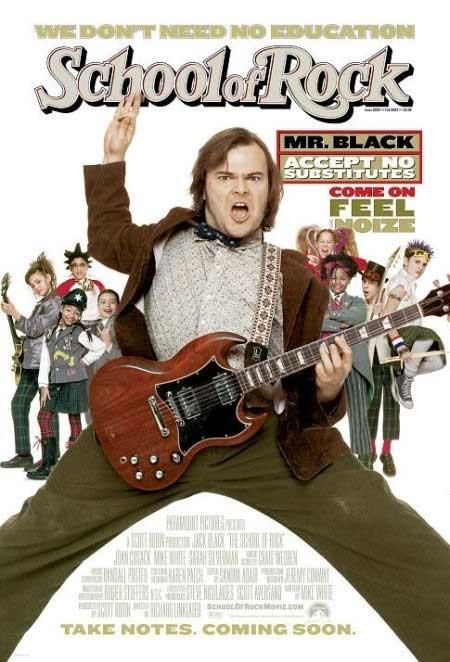 La locandina di School of rock
