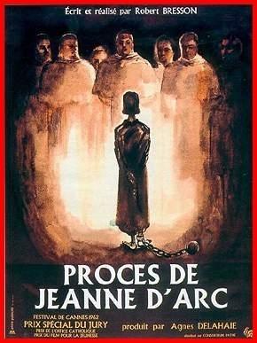 La locandina di Il processo di Giovanna d'Arco