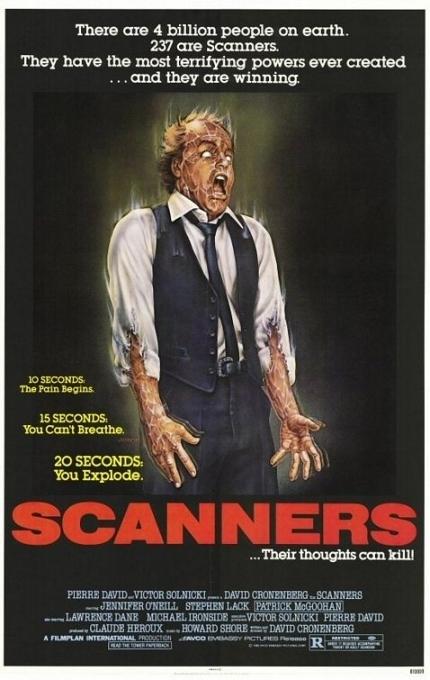 La locandina di Scanners