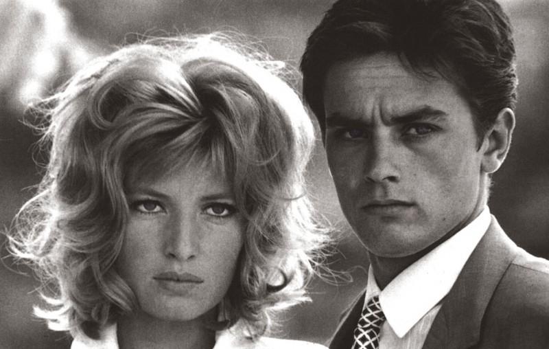 1962: Monica Vitti e Alain Delon sul set di L'eclisse