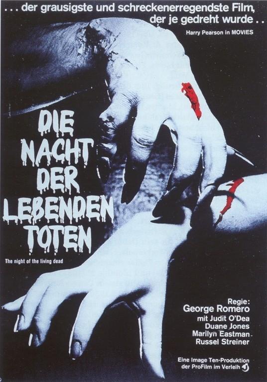 Il manifesto tedesco de La notte dei morti viventi