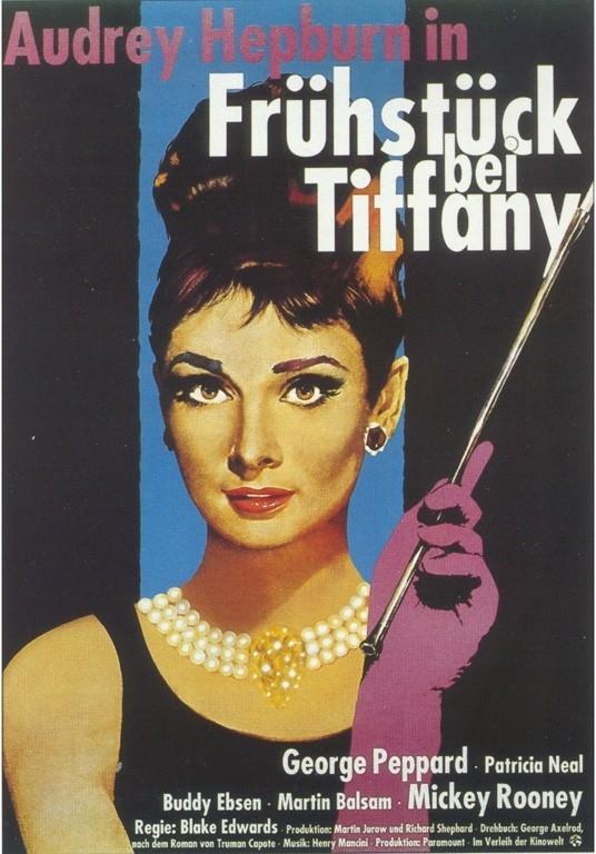 Il manifesto tedesco di Colazione da Tiffany