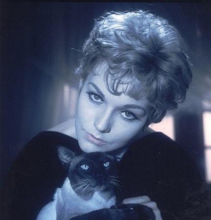 Kim Novak in una foto promozionale per Una strega in paradiso