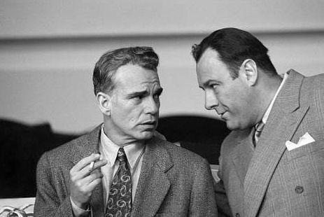 Billy Bob Thorton e James Gandolfini ne L'uomo che non c'era
