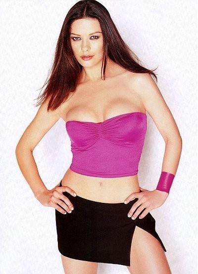 Catherine Zeta-Jones sexy in pink