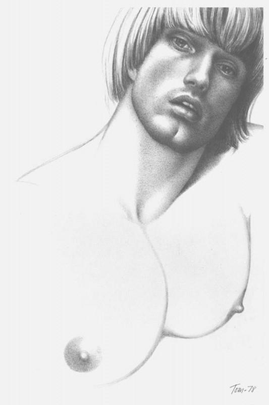 Peter Berlin in un'illustrazione di Tom of Finland