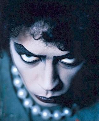 Una immagine promozionale di Tim Curry per The Rocky Horror Picture Show