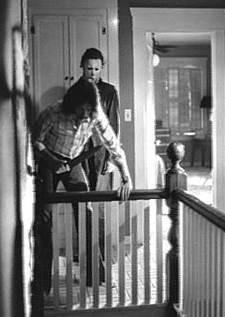 Nick Castle e John Carpenter sul set di Halloween (1978)