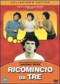 La copertina dvd di Ricomincio da tre