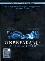 La copertina dvd di Unbreakable, Il Predestinato - Collector's Edition