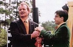 Jason Schwartzman con Bill Murray in una scena di Rushmore
