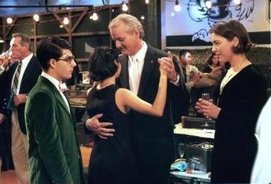 Jason Schwartzman, Sara Tanaka, Bill Murray e Olivia Williams in una scena di Rushmore