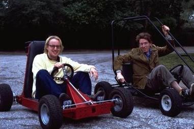 Owen Wilson e Wes Anderson sul set di Rushmore