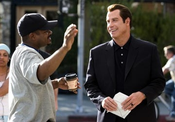 F. Gary Gray e John Travolta sul set di Be Cool
