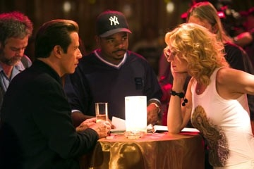 John Travolta e Uma Thurman con F. Gary Gray sul set di Be Cool