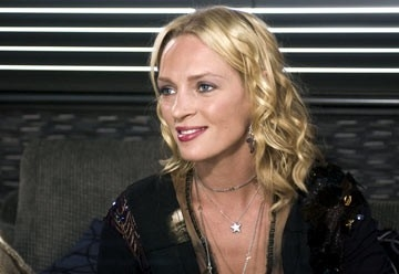 Uma Thurman, splendida come sempre, in una scena di Be Cool