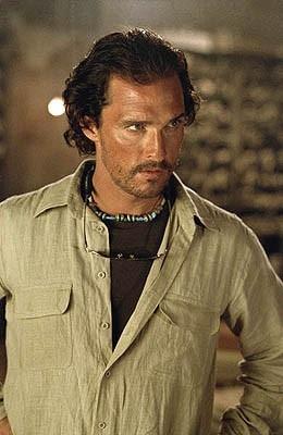 Matthew McConaughey in una scena di Sahara del 2005
