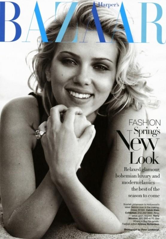 Scarlett Johansson sulla cover del magazine Bazar
