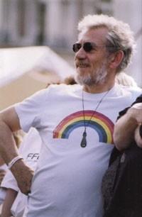 Sir Ian McKellen al Gay Pride di Londra