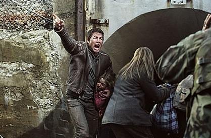 Tom Cruise in una scena drammatica de La guerra dei mondi