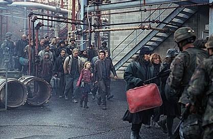 Una scena del film La guerra dei mondi