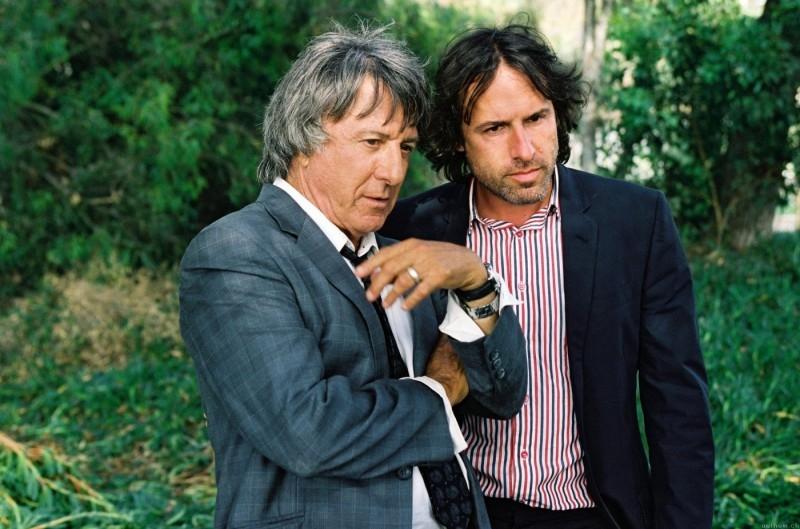 Dustin Hoffman e il regista David O. Russell sul set di I Love Huckabees