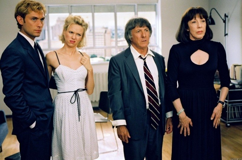 Jude Law, Naomi Watts, Dustin Hoffman e Lily Tomlin in una scena di  I Love Huckabees