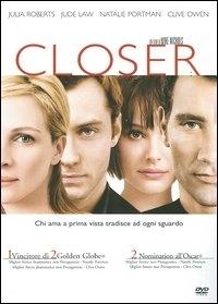 La copertina DVD di Closer