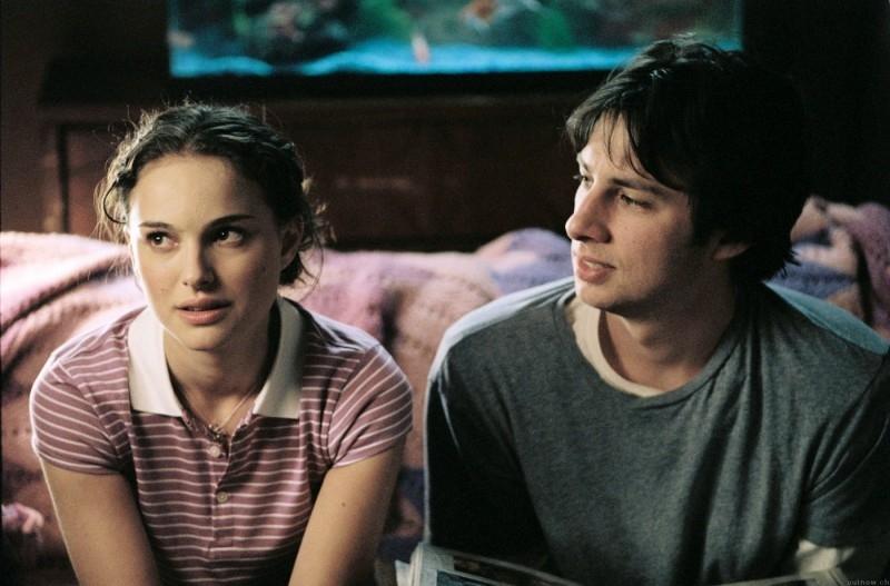 Natalie Portman e Zach Braff in una scena del film La mia vita a Garden State